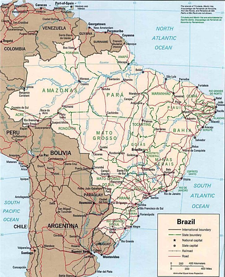 mapa do brasil detalhado